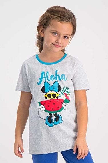Mickey Mouse Mickey & Minnie Mouse Lisanslı Pembe Kız Çocuk T-Shirt Beyaz